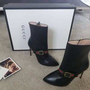 Gucci boots sylvie leather ankle boot
